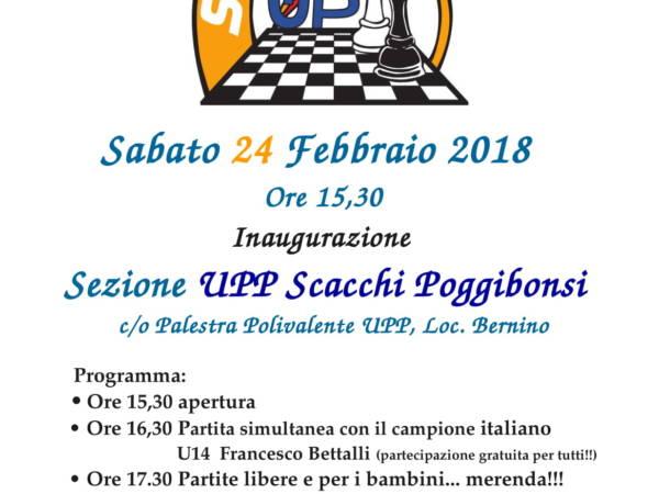 Inaugurazione della sezione scacchi